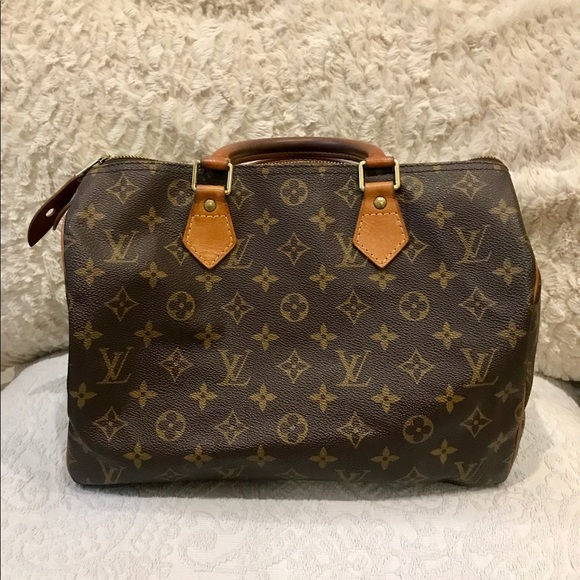 5e8b04cd453 Vintage Authentic Louis Vuitton Speedy Handbag 30